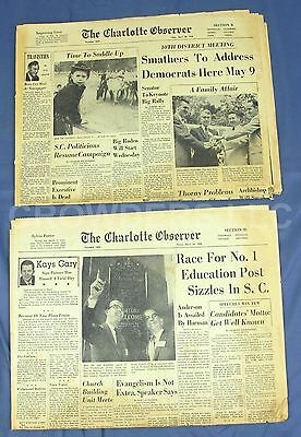 2X Vintage The Charlotte Observer Newspaper April 24   28 1958 Sections B   D