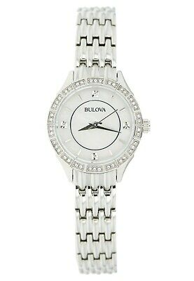 Bulova Women's 96X133 Quartz Silver Dial Silver Bracelet 27mm Watch