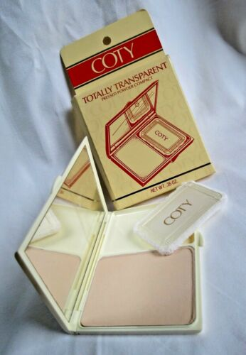 Vintage COTY Totally Transparent Pressed powder Compact .35 oz.