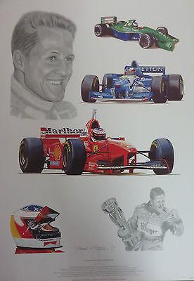 "STUART McINTYRE ""Tribute to Michael Schumacher""  F1  Jordan Benetton Ferrari"