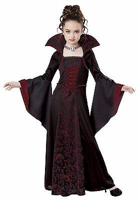 Royal Vampire Child Costume Fancy Dress - Girl Vampire Costume