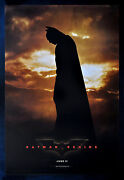 Batman Begins Original Movie Poster
