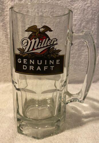 "8"" Miller Genuine Draft Beer Mug Licensed Product Stein Glass 1 Liter"