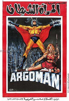 Argoman 1969 Roger Browne Egyptian one-sheet movie poster