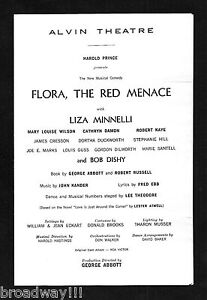 Liza-Minnelli-FLORA-THE-RED-MENACE-Kander-Ebb-1965-Broadway-Preview-Playbill