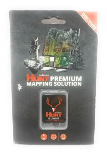 onXmaps HUNT GPS Chip for Garmin Units+1Year Premium Membership, Illinois 208986