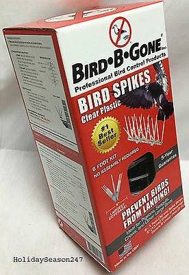 Bird-B-Gone Professional Bird Control Products 6 Foot Spike Kit Prevent Landing