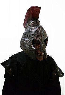 Herren Römisch Maske Kostüm & Helm Halloween Tote Spartaner Gladiator Latex ()