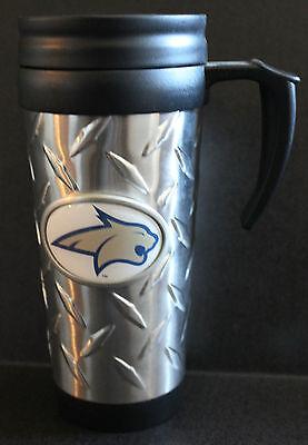 Montana State Insulated Travel Mug College 16oz Coffee Cup diamond plate NCAA