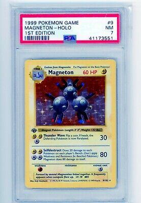 1999 Pokemon Game Magneton 1st Edition Holo Base Set Holographic #9/102 PSA 7