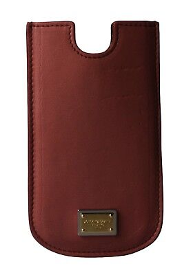 NEW DOLCE & GABBANA Phone Case Cover Pink Gold Logo Leather 13x7,5 cm