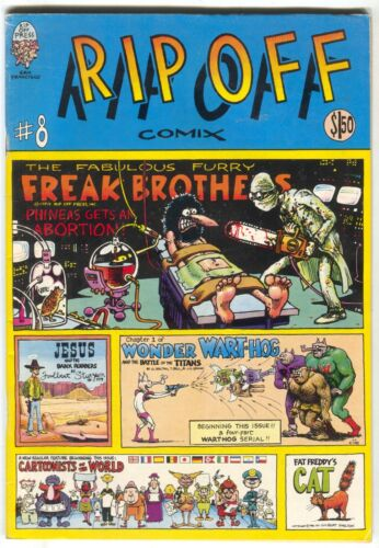Rip Off Comix 8 1981 FN VF Fabulous Furry Freak Brothers Fat Freddy