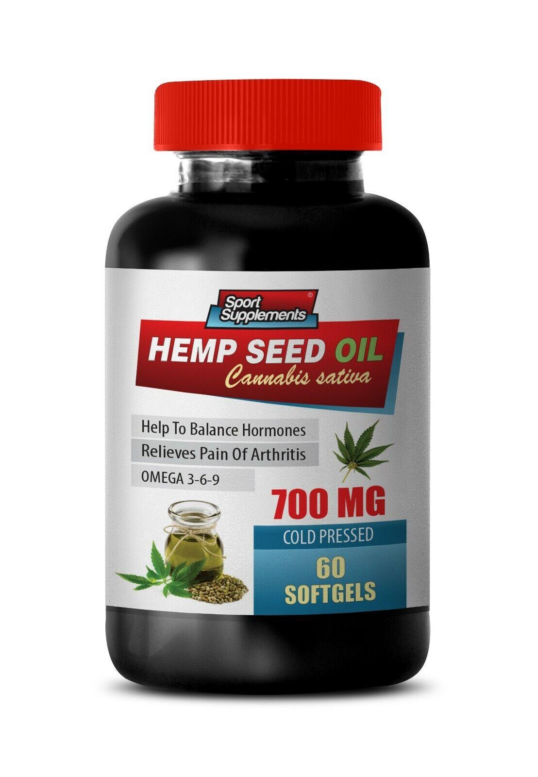 hormone balance - HEMP SEED OIL 700mg - super antioxidant - 1 Bottle