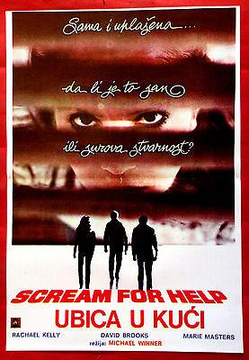 SCREAM FOR HELP 1984 HORROR RACHAEL KELLY DAVID ALLEN BROOKS EXYU MOVIE POSTER