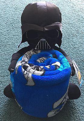 NEW Star Wars Child's Darth Vader Stuffed Toy & Plush Blanket/Throw Set $50