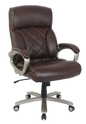 Vinmax Big And Tall Thick Padded High Back Bonded Leather Executive Chair-br