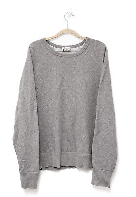 Acne Studios College Mens Grey Sweatshirt Pullover Sweater Jumper - L