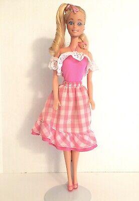 Vintage Mattel 1982 My First Barbie Doll Superstar Era 80's Factory Set Hair