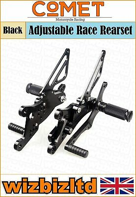 COMET BLACK ADJUSTABLE REARSET <em>YAMAHA</em> YZF R1 2004 2006 RSYA04BK