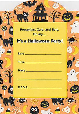 CUTE HALLOWEEN PARTY INVITATIONS Pumpkins Invites Hallmark Adults Kids Fun NEW - Fun Halloween Invitations