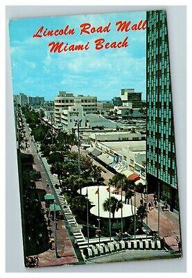 Lincoln Road Shopping Mall, Miami Beach FL c1970 Postcard (Lincoln Shopping Mall)