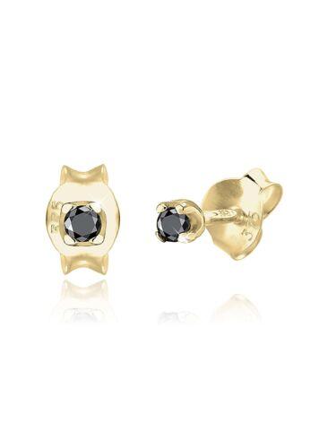 Ohrringe Diamant 375 Gelbgold Ohrstecker Edelstein Solitär Elli ...