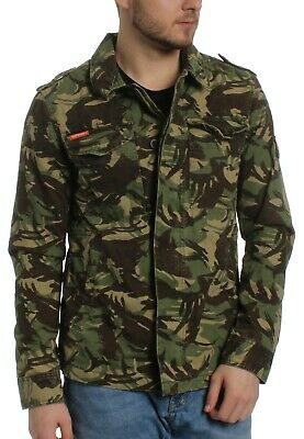 Superdry Men's Camo Rookie Deck Jacket Green Large/Medium