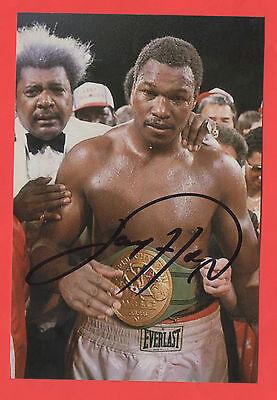 Orig.Autogramm  LARRY HOLMES (USA) - WBC / IBF Schwergewichtsweltmeister !! TOP
