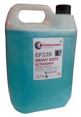 Ultrasonic cleaning fluid solution heavy duty formula Ferrous metals chrome iron