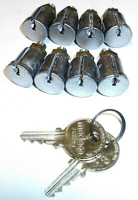 Medeco Coin-op Lock Cylinder Removable Core Cam 8 Matching Key Alike 2 Keys New