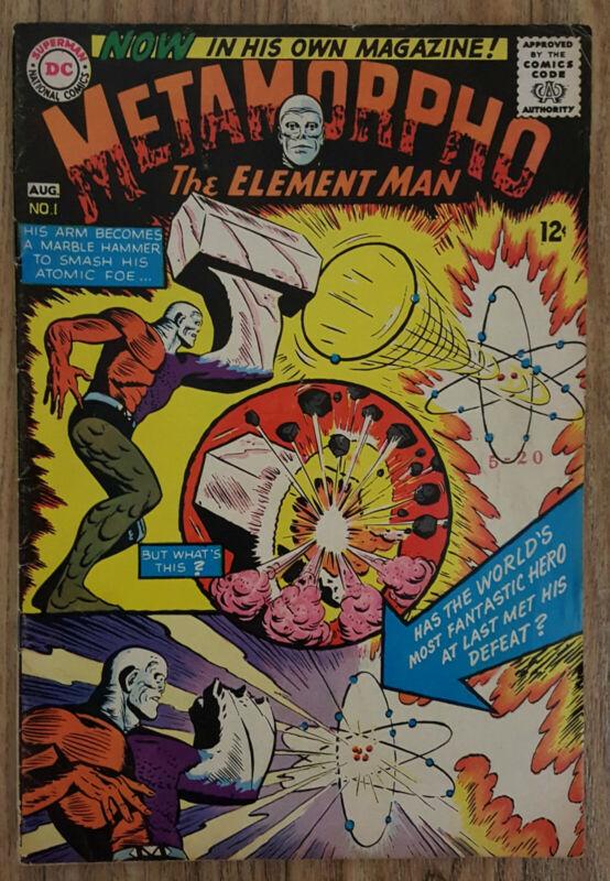 Metamorpho #1 (DC, Aug 1965) VG Silver Age 3rd Appearance Ramona Fradon Artwork