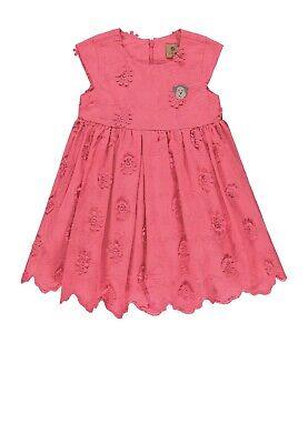 Bellybutton Kleid 1/8 Arm pink bubblegum mit Häkelblumen für Mädchen 1963248 Neu
