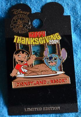 Disneyland LILO and STITCH HAPPY THANKSGIVING 2004 Pin - Retired Disney Pins