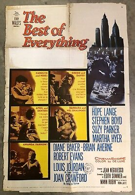 1959 BEST OF EVERYTHING FOREIGN MOVIE THEATRE POSTER NATIONAL SCREEN SERVICE