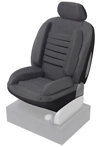 housse siege auto gris voiture anti mal de dos ergo confort ebay. Black Bedroom Furniture Sets. Home Design Ideas