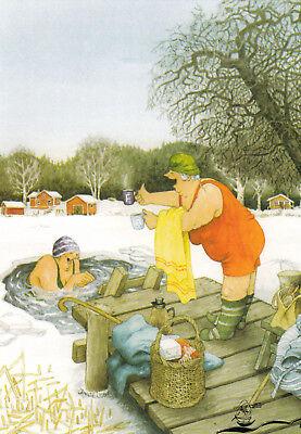 Kunstkarte: Inge Löök - Frauen baden im Eisloch / Nr. 55