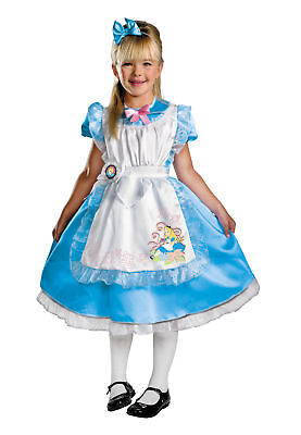 DISNEY ALICE IN WONDERLAND MOVIE DELUXE TODDLER CHILD COSTUME Party Halloween