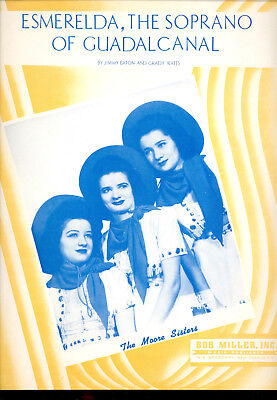 THE MOORE SISTERS Sheet Music