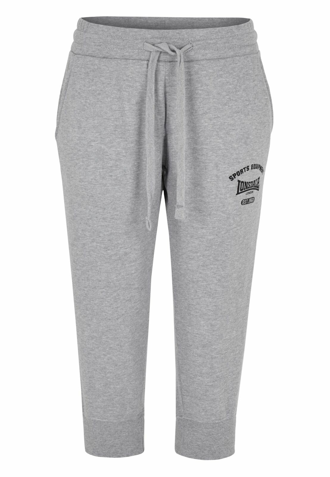 Lonsdale Damen 3/4 Sweatpants Leeds grey Fitness NEU S M L XL Brandlogo Label