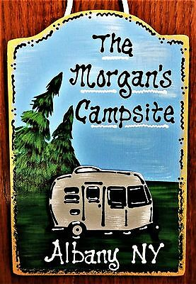 Personalize CAMPER Name SIGN Camp Camping Trailer Campsite Wall Art Decor Plaque