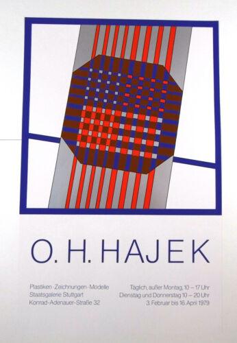 Ausstellungsplakat O. H. Hajek Plastiken Zeichnungen Modelle Stuttgart 1979