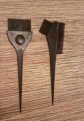 Haarfärbe-Set - Haarfarbe Kit - Schwarz - Pinsel und Kamm - 2-teilig (Kamm Und Pinsel-set)