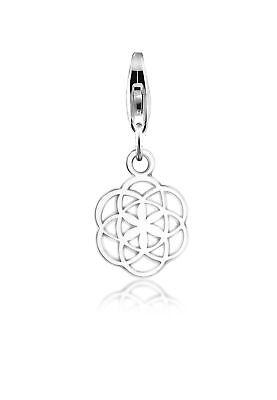Charm 925er Sterling Silber Blume Ornament Orient Geschenkidee Damen Nenalina