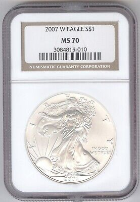 2007 W Eagle S$1 MS 70 + American Silver Eagle + NGC + No Reserve!