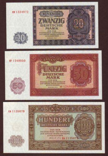 Germany  Democratic  Republic  Five  Note  Set  1955    UNC
