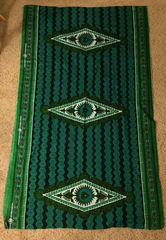 African Cotton Fabric from Tanzania East Africa Urafiki Kitenge- 2 Yards