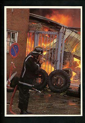 Fire Fighting postcard Belgium Firefighter needs hose