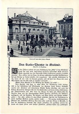 Scala in Mailand Piazza und Teatro Edoardo Vitale Nina Frascani Essay von 1909