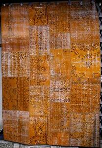 RRP.$2500. New 215x300 Bayliss Harvest Orange Patchwork Wool Rugs Melbourne CBD Melbourne City Preview