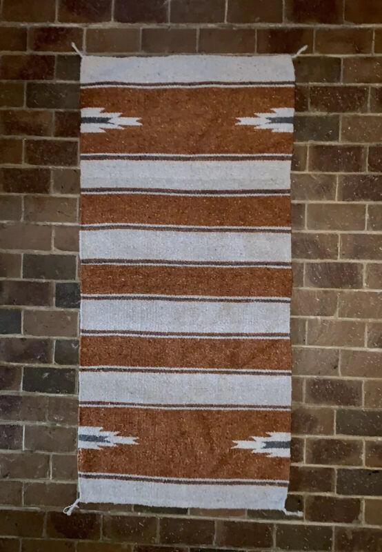 """Mid Century Native Navajo Woven Multicolor Rug 61.5"""" x 29"""""""